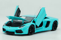 Welly 1:24 Lamborghini Aventador LP700-4 Diecast Model Racing Car Toy Blue NIB