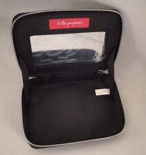 BARE MINERALS Makeup Case Cosmetics Travel Bag Black Zippered Mirror Storage