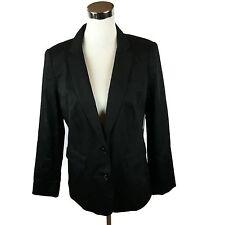 NWT $ 54 a.n.a. Womens Size M Blazer Black 2-Button Lined Stretch Cotton