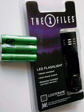 X-Files Fox TV Show 2 Set Lot 9 LED Flashlight w/ Batteries Brand New Sealed