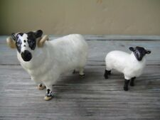 VINTAGE BESWICK ENGLAND FIGURINE SHEEP RAM LAMB LOT OF TWO 2