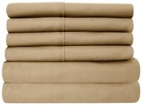 1000 TC Egyptian Cotton Taupe Solid Fitted/Duvet Set/Sheet Set All Sizes
