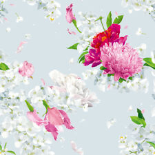 30 cm Jersey Jerseystoff Stoff Blumen Blumenstoff Nähen Bekleidungsstoff