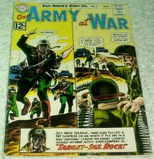 Our Army at War 124, VF- (7.5) 1962, 40% off Guide!