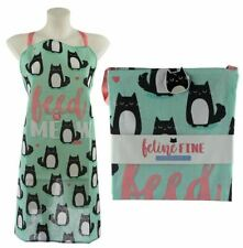 NOVELTY CUTE CAT FEED ME MEOW DESIGN KITCHEN CHEF APRON NEW WITH TAGS