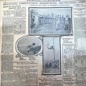 MAY 1907- NEWSPAPER #LJ7385-  TRACK AND FIELD BRANHAM, MITCHELL, COMIC, SET OF 2