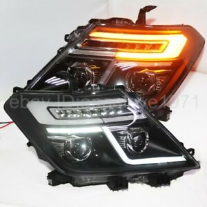 2010-14 Year front lamps For NISSAN Patrol Infiniti QX56 LED Strip Headlights LD