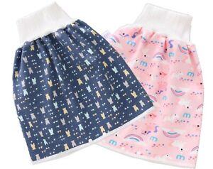 2 Pack Waterproof Diaper Skirt for Potty Training for Children Anti-Bed Wetting