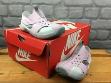 NIKE CHILDRENS UK 10.5 EU 28 PINK WHITE SUNRAY PROTECT 2 SANDALS CHILDRENS GIRLS