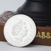 Britannia Göttin Queen Elizabeth NEU Medaille Silbermedaille Britisches Emp K2D2