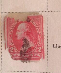 George Washington 2 Cent Stamp US Postage Red Rare