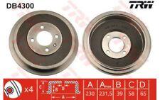 TRW Juego de 2 tambores frenos VOLKSWAGEN CADDY SEAT INCA BYD L3 DB4300