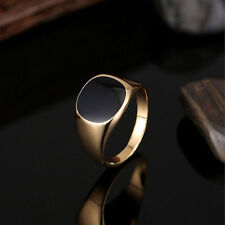 Men's Solid Polished Signet Ring Biker Ring Stainless Steel Ring