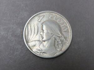 Polen 1 Zl 1925 Frauenkopf ss++ vz Adler 750er Silber