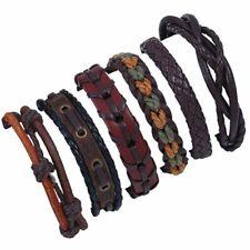 Charm 6Pcs/Set Multilayer Leather Bracelet Men's Wristband Bangle Jewelry Gifts