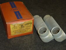"""Nos! Lot Of (2) Bridgeport 1"""" Oval Threaded Conduit Fittings, 63-Oll"""