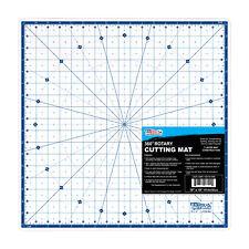 "18"" x 18"" WHITE Self Healing 7-Ply Durable PVC Round Rotating Cutting Mat"