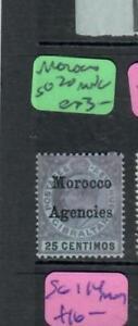 MOROCCO AGENCIES  (P2705B)  KE  25C  SG 20   MNG