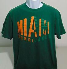 Miami Hurricanes Green Adidas T-Shirt Mens Large