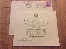 1960 Democratic National Convention Senator John F. Kennedy Reception Invitation