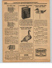 1927 PAPER AD Stake Out Folding Fibre Fiber Board Goose Duck Decoy