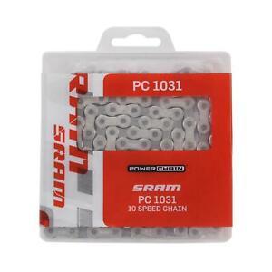 SRAM PC-1031 10 Speed MTB Road Mountain Bike Chain Powerlock Silver Grey PC 1031