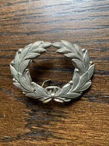 original brass 19th c. Civil War hat wreath insignia pin new old stock