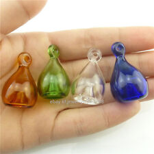Hole Aromatherapy Perfume Oils Diffuser Pendant 4Pcs Mix Clear Glass Bottle Mini