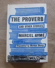 THE PROVERB stories by Marcel Ayme - 1st/1st Bodley UK HCDJ - 1961