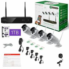 xmartO-Audio & Video, Wireless Security Camera System 4CH 1080p HD NVR with 4x1