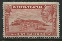 Gibraltar KGV 1932 1d perf 13 1/2 by 14 mint o.g.