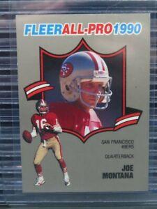1990 Fleer Joe Montana Fleer All-Pro #1 49ers R279