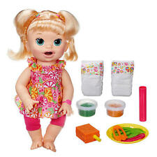 Baby Alive  Blonde   Doll Super Snacks Talking Eating English Spanish  Sara