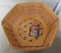 "Longaberger 1998 14"" Generations Basket with Product Card Classic Finish"