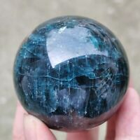 1pc Natural apatite Quartz sphere Crystal Ball reiki Healing 50mm 220g+