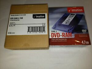 NEW Sealed Imation DVD-RAM 4.7 GB Single-Sided Rewritable Disc Type 2 5-Pack Box