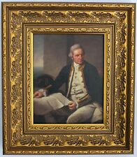 El capitán James Cook Enmarcado oleograph R590#E reproducción de imagen, Art.