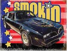 Large Black Pontiac Trans Am Muscle Car Vintage Retro Metal Tin Sign New 40x30cm