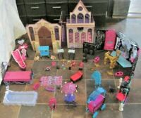 Monster High Doll Lot ~ Monster High School Playset, 13 Wish Party Lounge & More