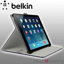 Belkin MultiTasker Natural Leather Folio Cover Case Ink Navy for Apple iPad Air