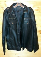 Men's Inmur Faux Leather Motorcycle Jacket Slim Fit Size XXL