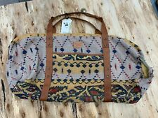 Will Leather Goods Kantha Duffle Purse Bag