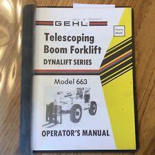 Gehl 663 Telescopic Rt Boom Forklift Operators Manual Maintenance Guide 904281