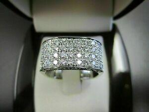 2.6Ct Diamond Pave Set Engagement Wedding Square Shape Men's Ring 14K White Gold