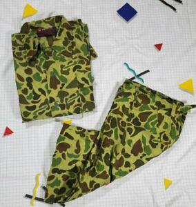 NWOT Vintage Camo Hunting Jacket Pants Set Shirt Nesco Sportsman Adult Large