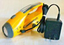 Outdoor Solar Hand Crank LED Light Lamp Solar Flashlight Radio Waterproof