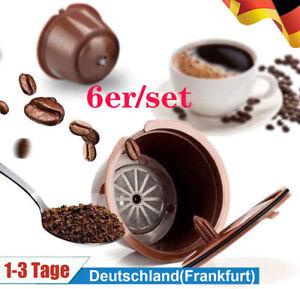 6er*Nachfüllbar Reusable Plastic Kaffee Kapsel Pods Tassen für Bosch Tassimo