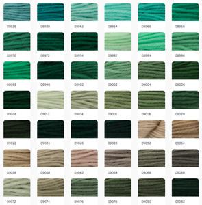 Anchor Coats Tapisserie Needlepoint Tapestry Wool - 10m & 20g Hanks 8936-9082