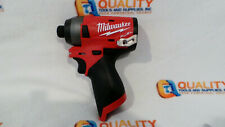 "New Milwaukee 2553-20 M12 12V Li-Ion Brushless 1/4"" Impact Driver - Bare Tool"