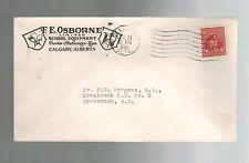 1946 Calgary Canada Advertising Cover FE Osborne Co School Equipment Stationery